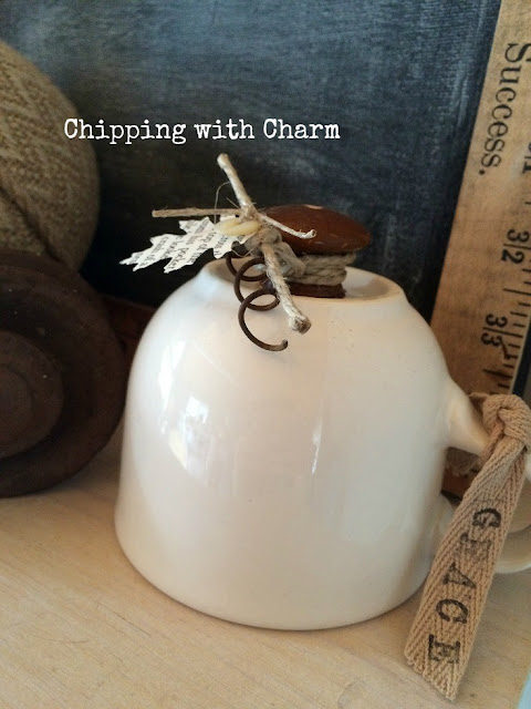 Chipping with Charm: Mug, Repurposed Pumpkins www.chippingwithcharm.blogspot.com