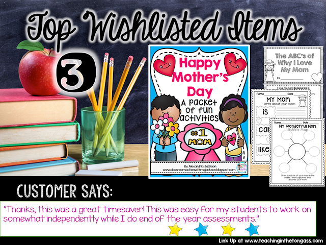 https://www.teacherspayteachers.com/Product/Mothers-Day-1825614