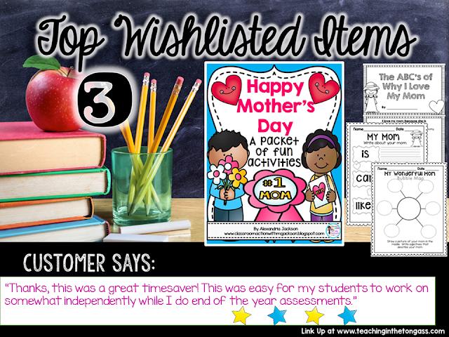 https://www.teacherspayteachers.com/Product/Mothers-Day-1825614