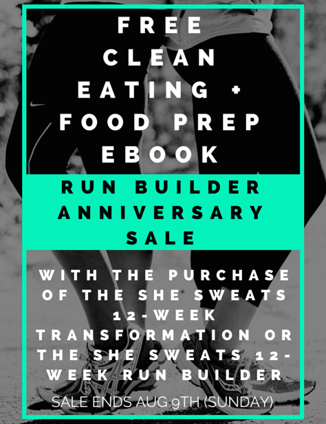 Run Builder Anniversary SALE! ~ He and She Eat Clean