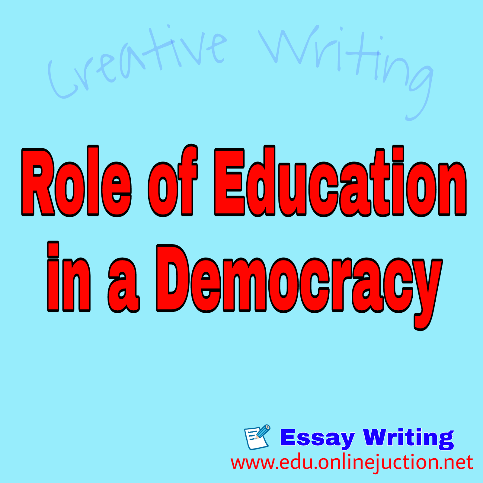 essay on role of education in democracy