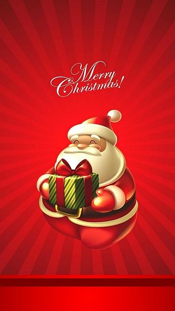 besplatne Božićne slike za mobitel 360x640 free download čestitke blagdani Merry Christmas Djed Mraz