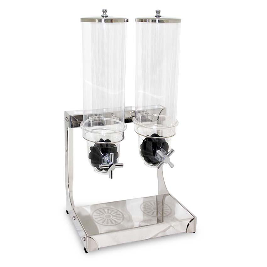 OX-712 Oxone HORECA Cereal Double Dispenser 2x3.7Lt - Kaca