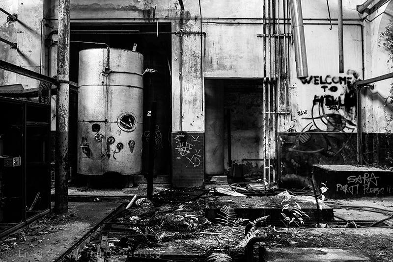 Cotonificio Amman Borgomeduna Pordenone sala macchine