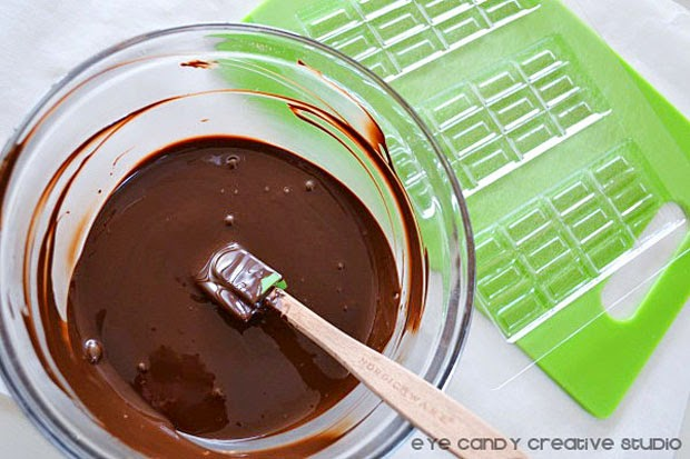 melted chocolate for chocolate bars, organic chocolate, earth day recipe