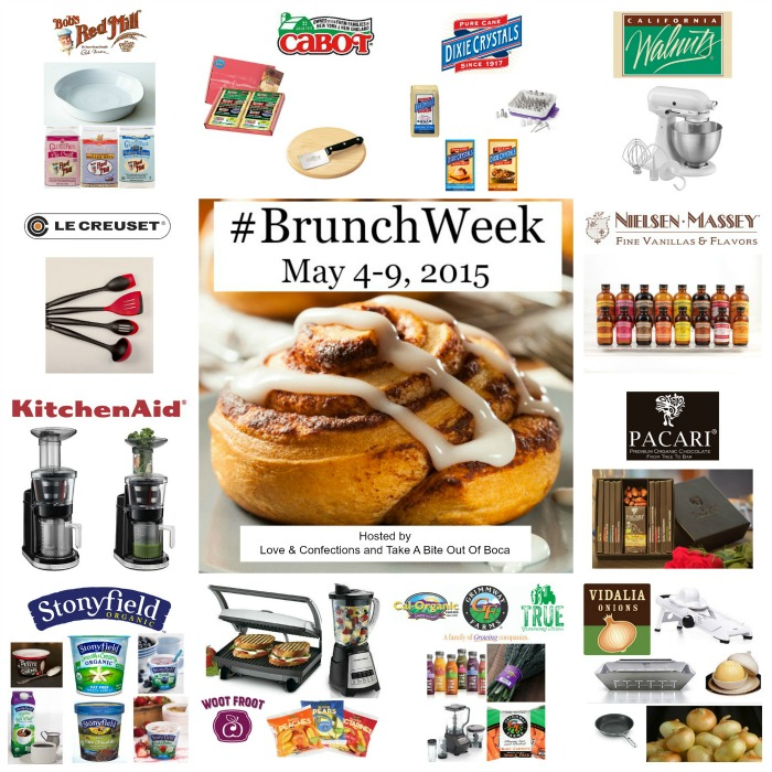 #BrunchWeek 2015 Sponsors and Giveaway!