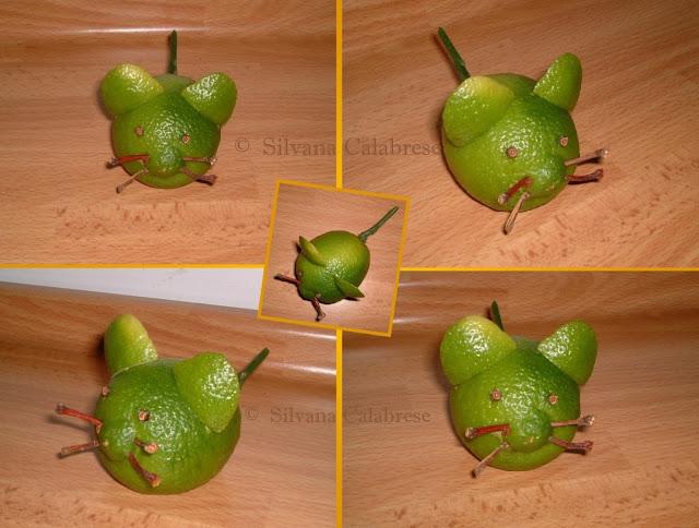 Intagli frutta e verdura Topo Limone sorcio verde Silvana Calabrese - Blog