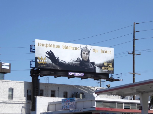 King Arthur movie billboard
