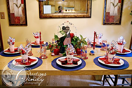 Creations By Cindy: Tablescape Thursday-Happy 4th of July