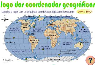 Cartografia, Continentes, Mapas, Oceanos, Países e Coordenadas