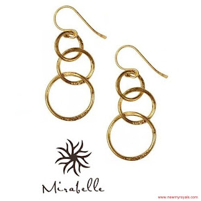 Kate Middleton jewels Mirabelle Lolita Gold Plated Loop Earrings