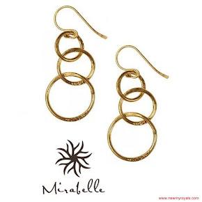 Kate Middleton jewels Mirabelle Lolita Gold Plated Loop Earrings