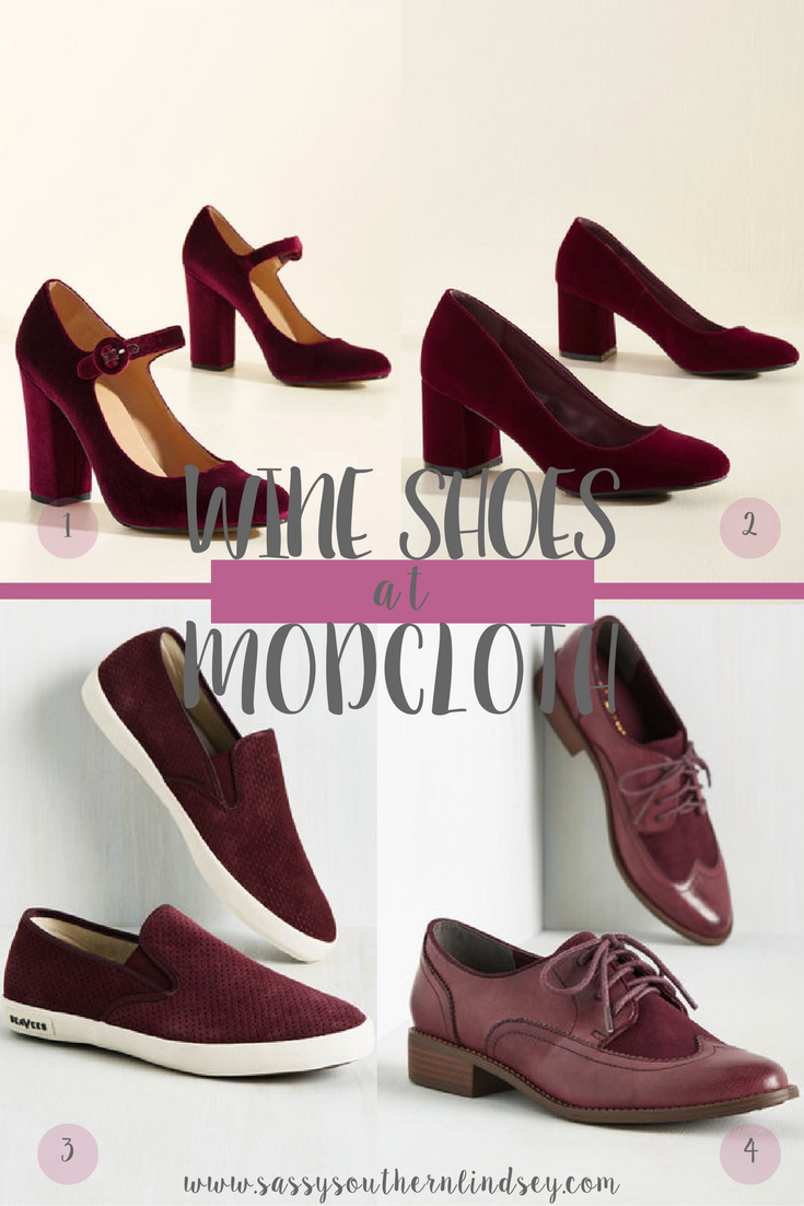 Wine Colored Shoes at ModCloth