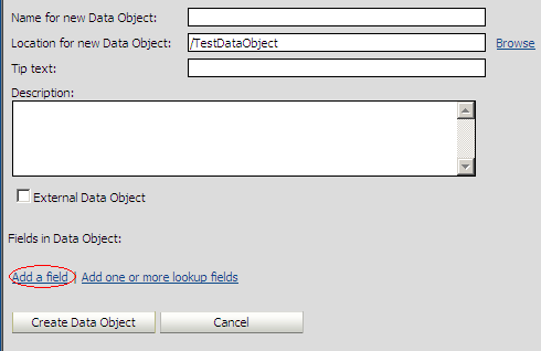Enter Data Object Details