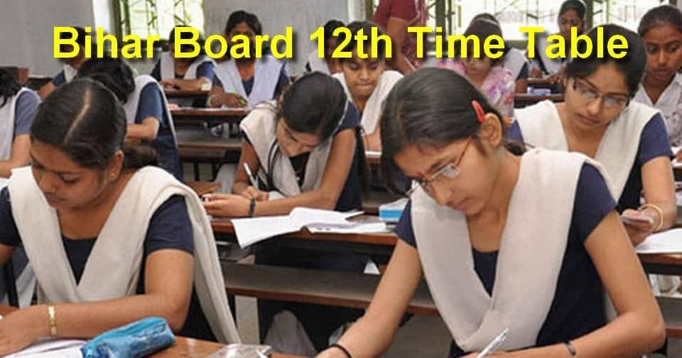 Bihar%2BBoard%2B12th%2BTime%2BTable-min  Th P Govt Job Online Form Bihar on