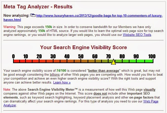 improving search engine visibility score