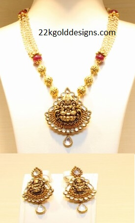 TBZ Nakshi Lakshmi Pearl Necklace