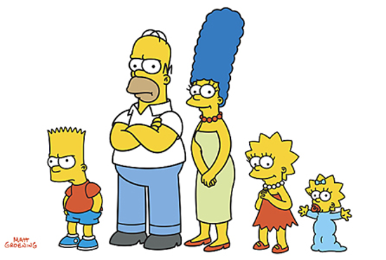 The Simpson family in 1989
