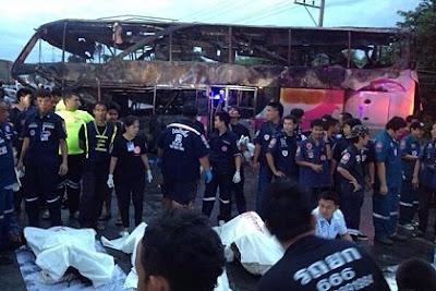 Bus crash Saraburi