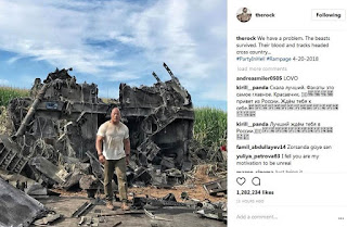 Dwayne Johnson Give a Look at a Wrecked Vehicle in 'Rampage' Set Photo