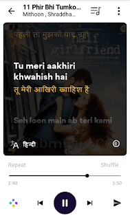 Musixmatch premium lyrics in hindi