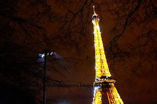 Eiffel Tower light show, Paris, France