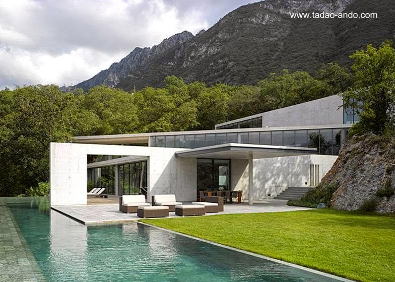 Casa contemporánea de Tadao Ando en México 2008