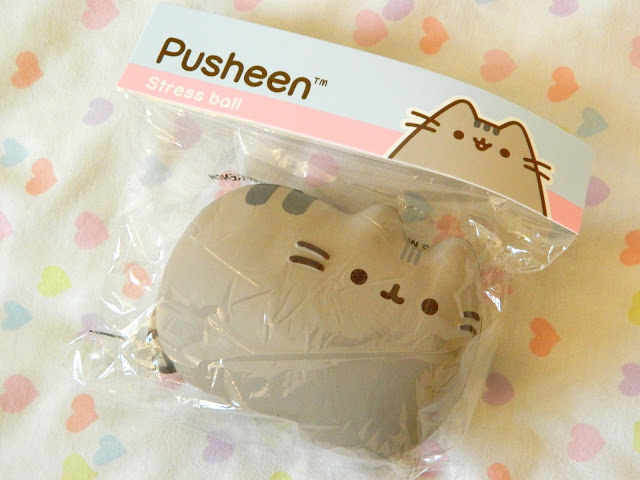 A photo showing a Pusheen stress ball from the Pusheen Box Autumn 2018