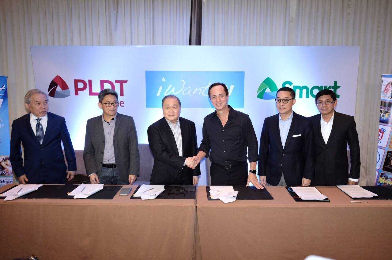 Smart & PLDT Home Partners with iWant TV