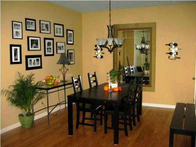 Dark Accent Wall Dining Room