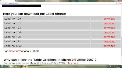 Mencetak Label Undangan