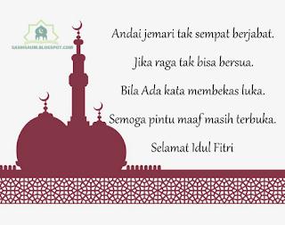 Kata Kata Ucapan Selamat Lebaran Idul Fitri