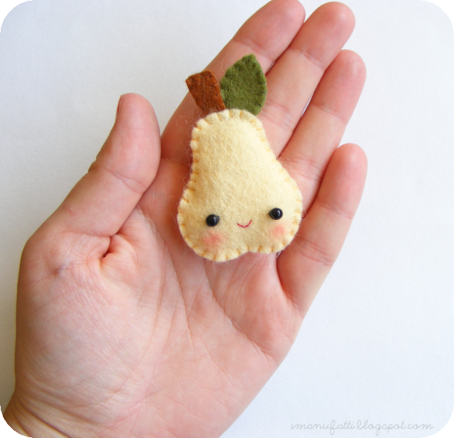 image tutorial diy felt pear brooch i manufatti