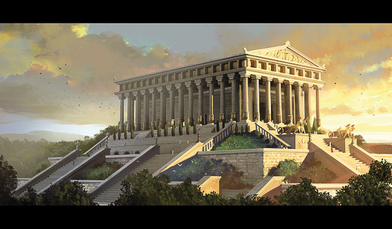 El templo de Artemisa. Las 7 maravillas del mundo antiguo