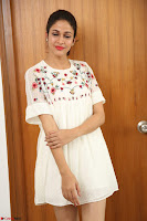 Lavanya Tripathi in Summer Style Spicy Short White Dress at her Interview  Exclusive 281.JPG