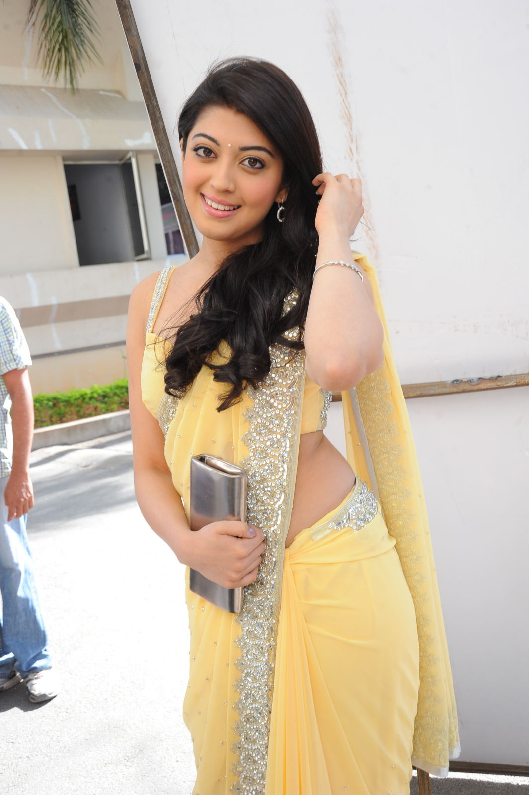 Actress Pranitha Hot In Yellow Saree Side South Actress Photos