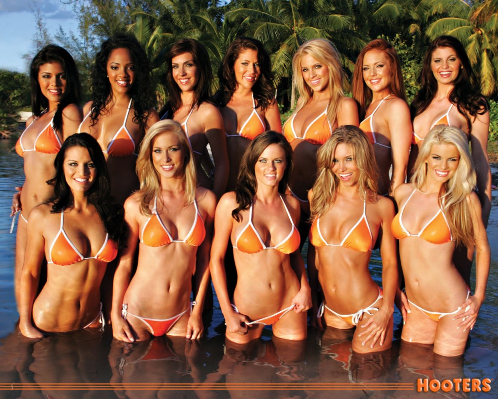 Hooters swimsuit pageant girls
