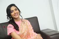 Actress Ritu Varma Pos in Beautiful Pink Anarkali Dress at at Keshava Movie Interview .COM 0336.JPG