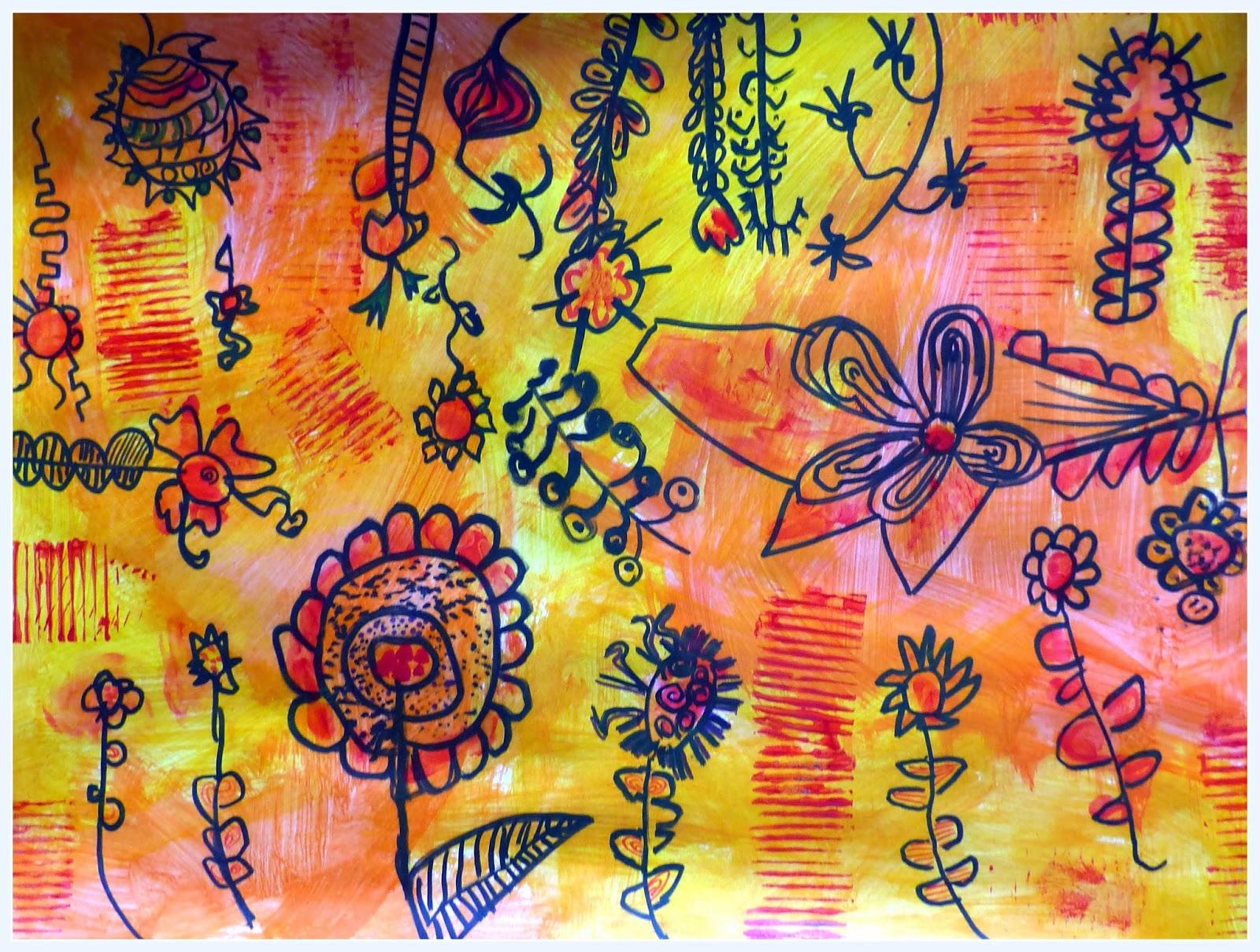 Fleurs Printemps Arts Visuels Maternelle