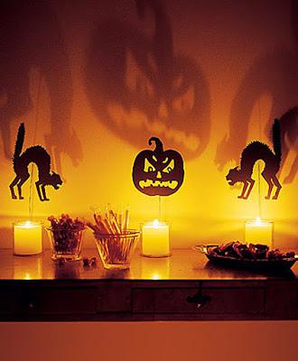 Manualidad para Halloween con sombras