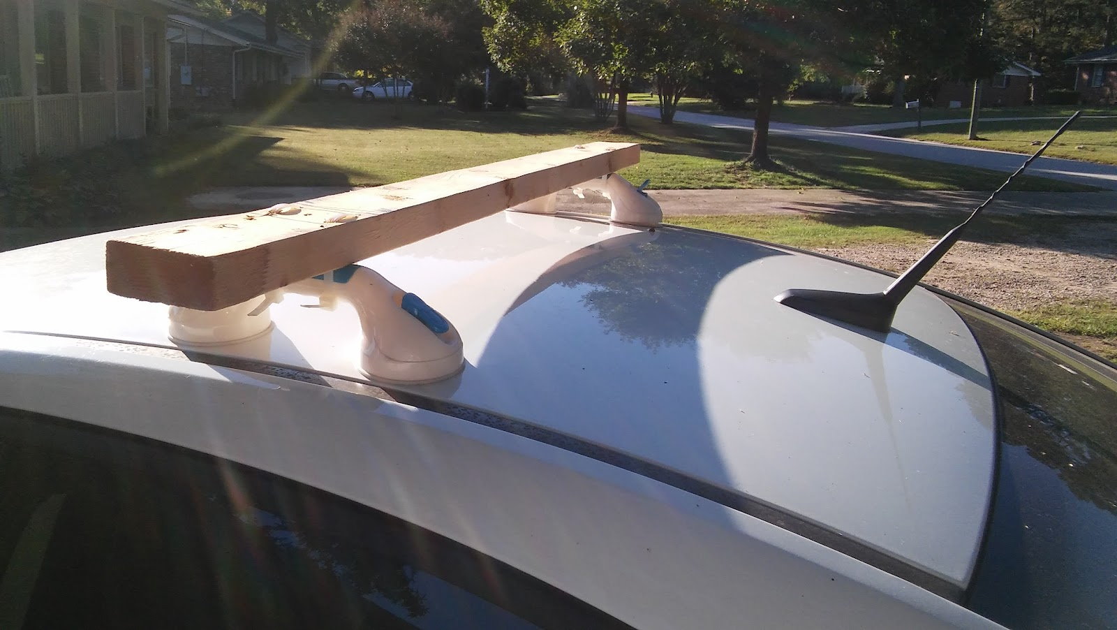 Paddling and Sailing: DIY Cheap Roof Racks
