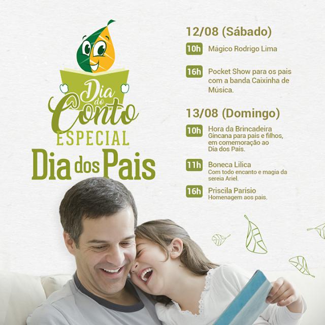Dia do Conto na Livraria Jaqueira especial para o Dia dos Pais