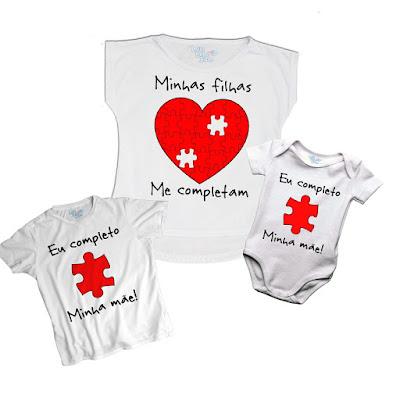 Camisetas Mãe e Filhos