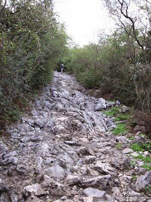 Camino de roca al natural en el Cerro de la Silla