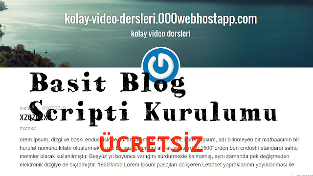 basit blog scripti indir