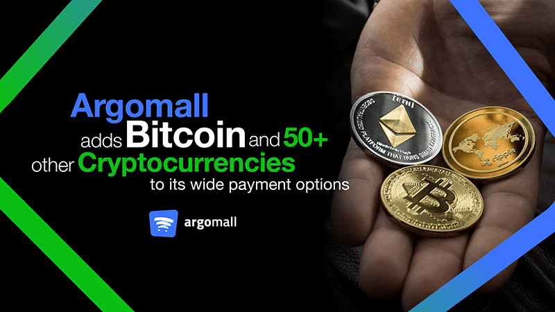 Argomall now accepts Bitcoin and other cryptocurrency payments