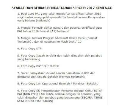 Download Syarat Dan Berkas Pendaftaran Sergur  Kemenag
