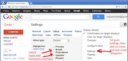 alternate method to disable primary, social and promotions tabs in gmail