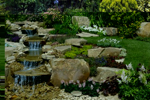 Beautiful Rock Garden Waterfall on Rock Garden Waterfall Ideas id=61064