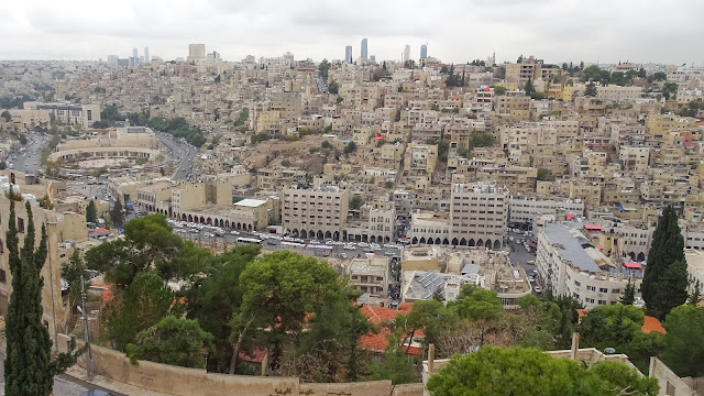 View over whole city center of Amman